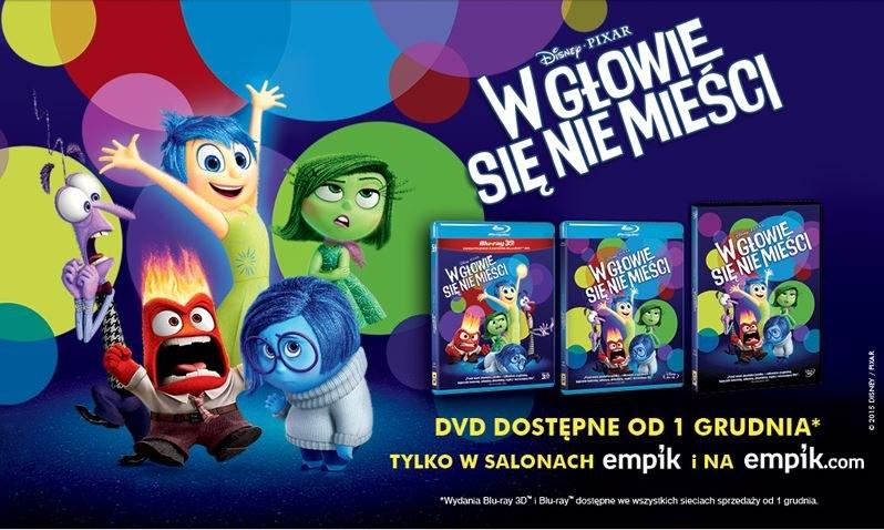 """Dystrybutorem filmu """"W głowie się nie mieści"""" na płytach DVD, Blu-ray i Blu-ray 3D jest Galapagos Films /materiały dystrybutora"""