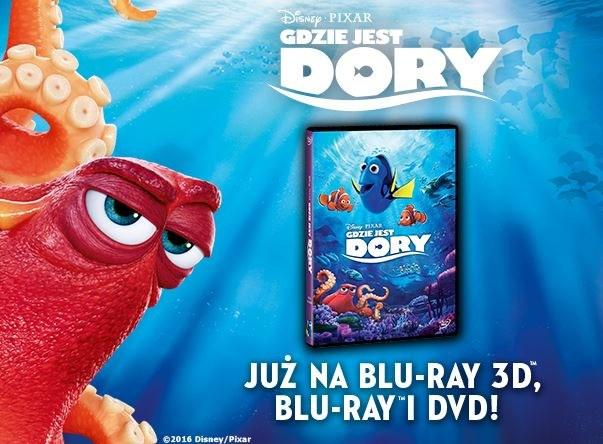 """Dystrybutorem """"Gdzie jest Dory"""" na płytach Blu-ray 3D, Blu-ray i DVD jest Galapagos Films /materiały dystrybutora"""