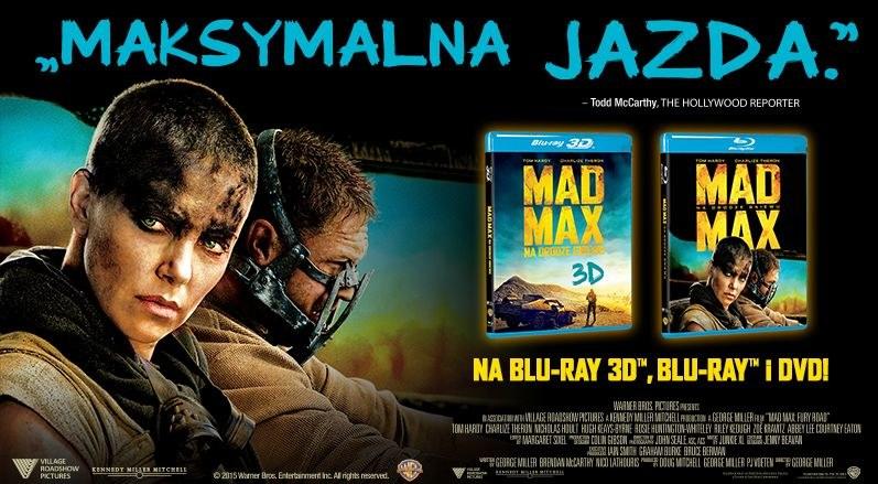 """Dystrybutorem płyt Blu-ray 3D, Blu-ray i DVD w filmem """"Mad Max: Na drodze gniewu"""" jest Galapagos /materiały dystrybutora"""