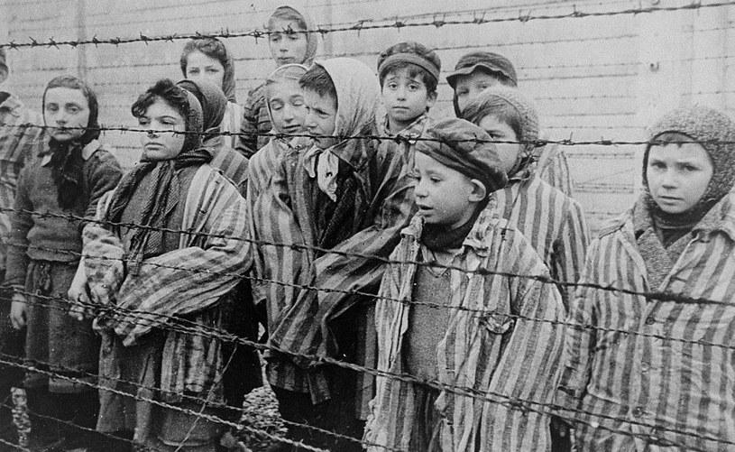 Dzieci z Auschwitz wyzwolone przez Armię Czerwoną /domena publiczna