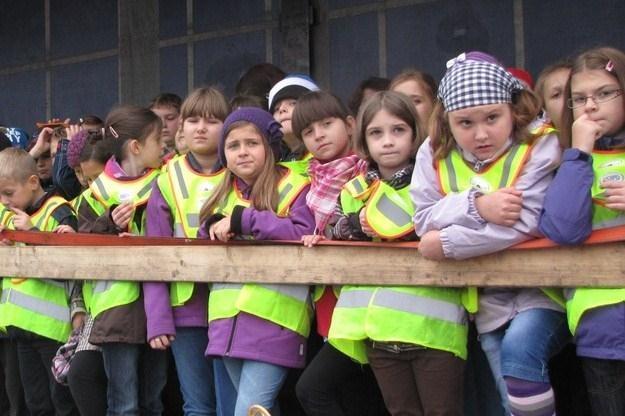 Dzieci z zaciekawieniem oglądały pokaz /RMF