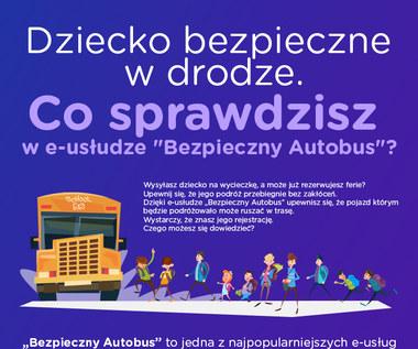 """Dziecko bezpieczne w drodze. Co sprawdzisz w e-usłudze """"Bezpieczny Autobus""""?"""