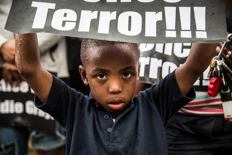 Dziecko protestuje w Baltimore /AFP