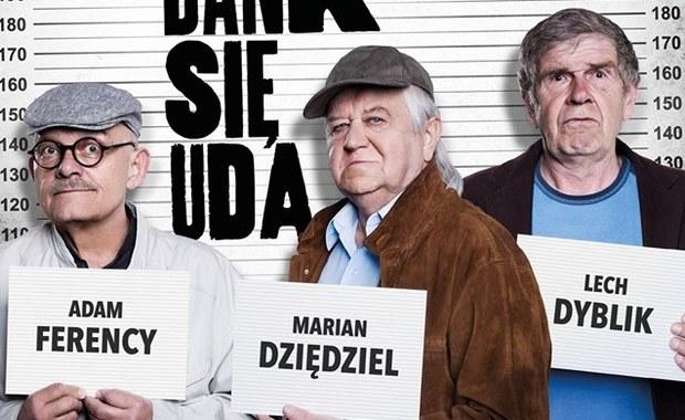 """Dziędziel, Ferency i Dyblik za kratami! Już jest plakat filmu """"Na bank się uda"""""""