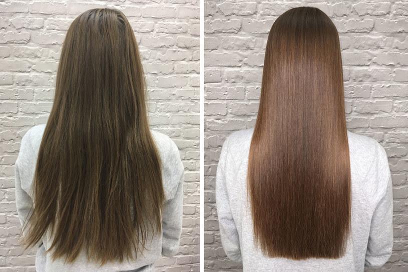 Dzięki maseczce włosy są idealnie proste i lśniące /123RF/PICSEL