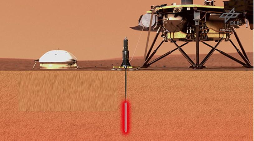 Dzięki misji dowiemy się, co kryje się we wnętrzu Marsa. Fot. DLR /materiały prasowe