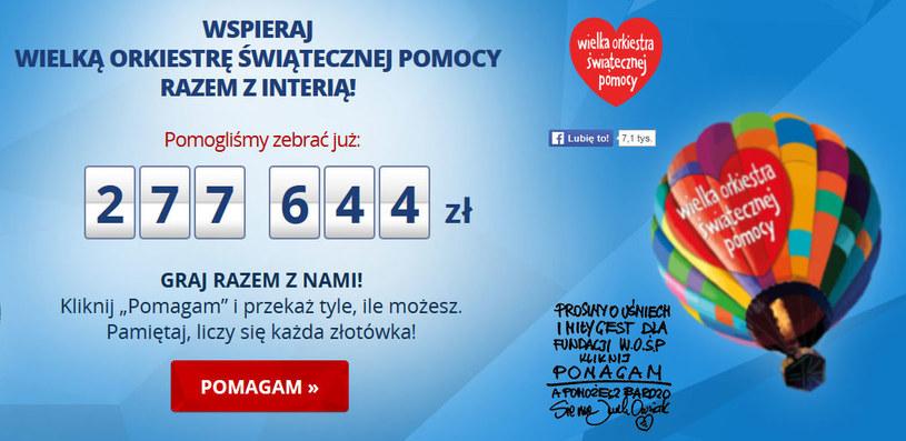 Dzięki naszym użytkownikom udało się zebrać ponad 270 tysięcy zł /INTERIA.PL