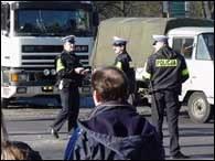 Dzięki szybkiej interwencji policji ruch w mieście nie został sparaliżowany /RMF