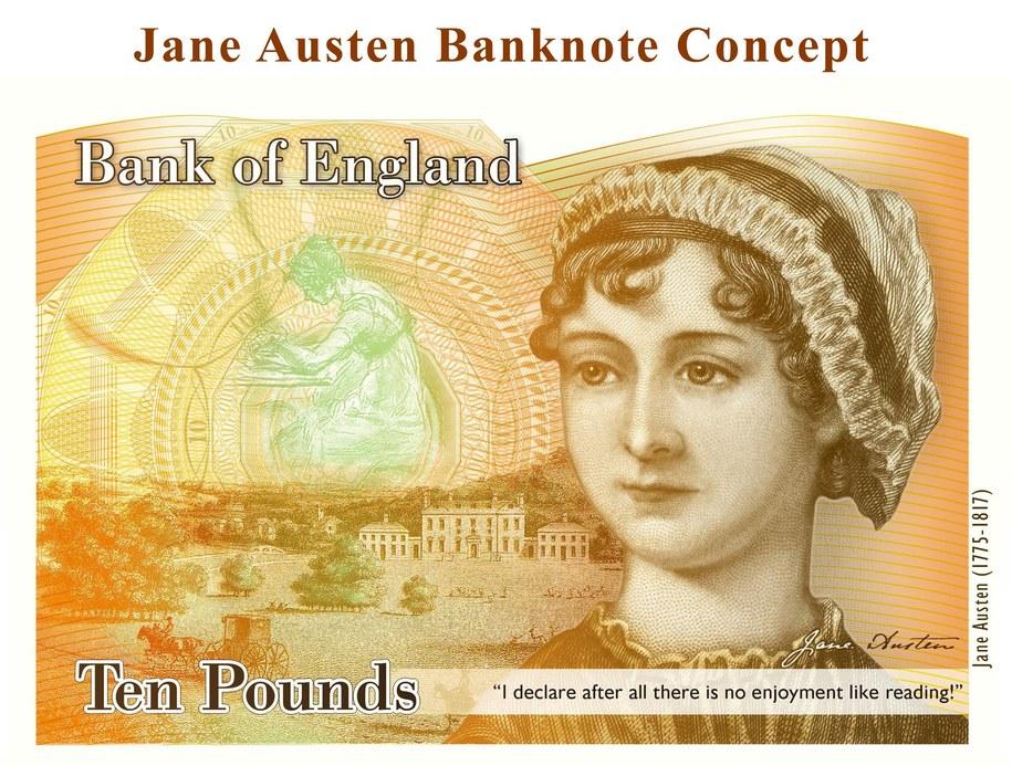 Dzieła Jane Austen zaliczane są do największych osiągnięć literatury angielskiej /BANK OF ENGLAND /PAP/EPA