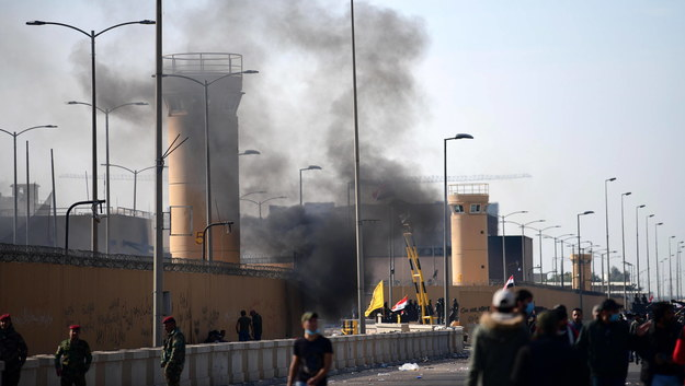 Dzielnica rządowa w Bagdadzie /MURTAJA LATEEF /PAP/EPA