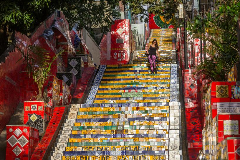 Dzielnica Santa Teresa z przepięknymi schodami /123RF/PICSEL