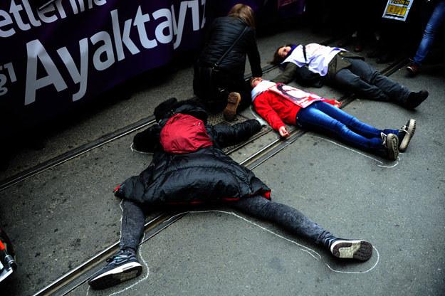 Dzień Kobiet w Stambule fot. Ozan Kose /AFP