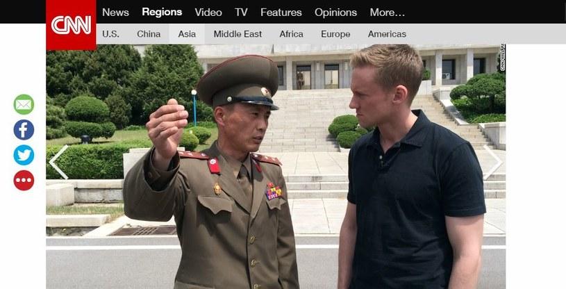 Dziennikarz CNN z przedstawicielem północnokoreańskiego reżimu /CNN /INTERIA.PL