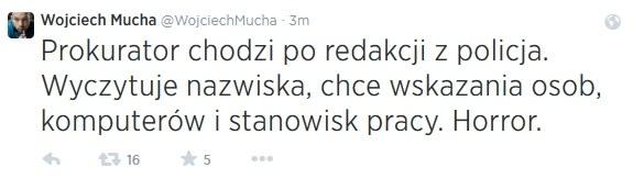 """Dziennikarz """"Gazety Polskiej Codziennie"""" /Twitter"""