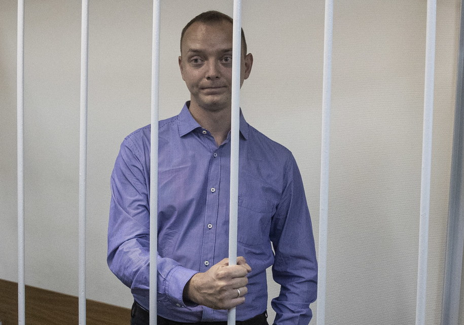 Dziennikarz Iwan Safronow ma trafić do aresztu /Sergei Ilnitsky /PAP/EPA