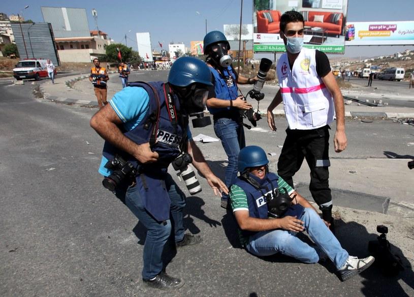 Dziennikarz ranny. Fot. Anadolu Agency /Getty Images