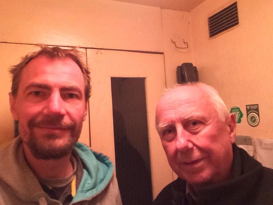 Dziennikarz RMF FM z Janem Chrzanowskim, który pracuje w wieży od 1972 roku. /Adam Górczewski /RMF FM