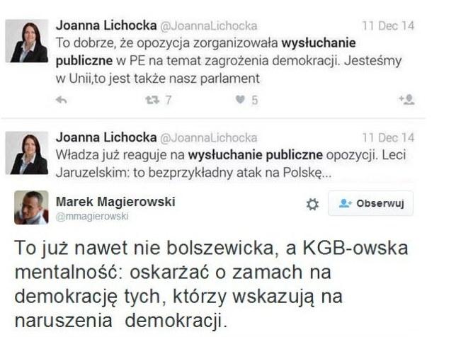 """""""Dziennikarze niepokorni"""" w 2014 roku /Twitter"""