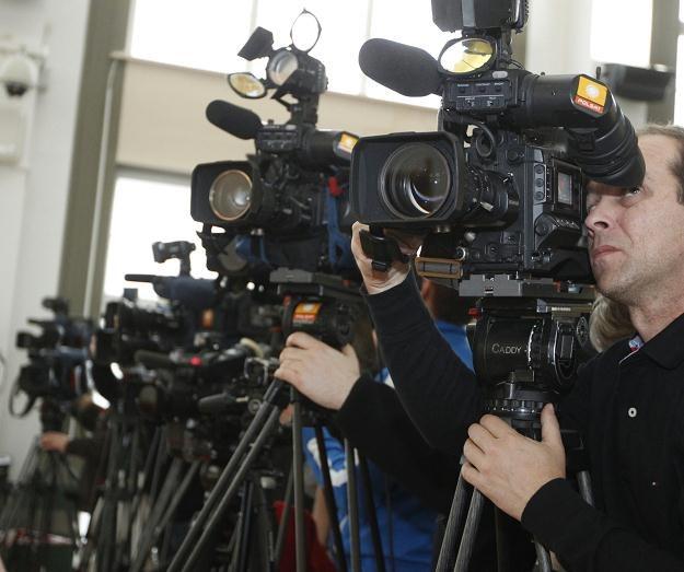 Dziennikarze przed rozpoczęciem procesu Katarzyny W., fot. A. Grygiel /PAP