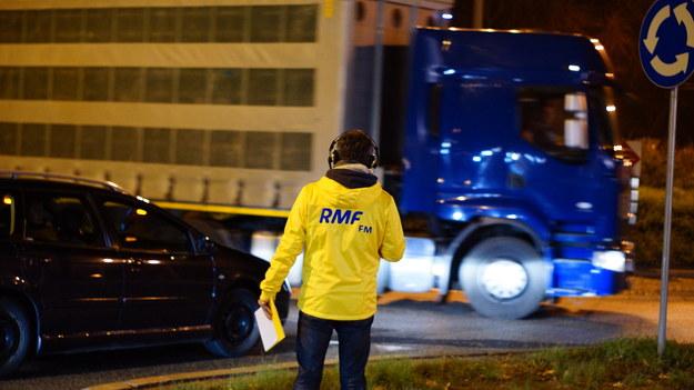 Dziennikarze RMF FM i TVP Info na bieżąco sprawdzali sytuację na drogach /Michał Dukaczewski /RMF FM