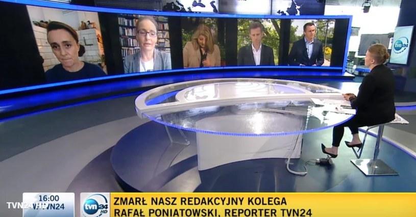 Dziennikarze TVN24 wspominają Rafała Poniatowskiego /screen /TVN24.pl