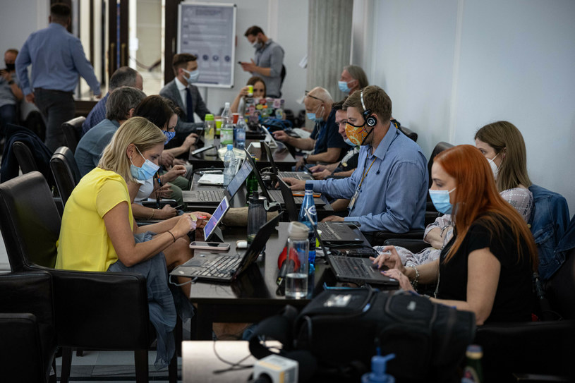 Dziennikarze w Sejmie / Jacek Domiński /Reporter