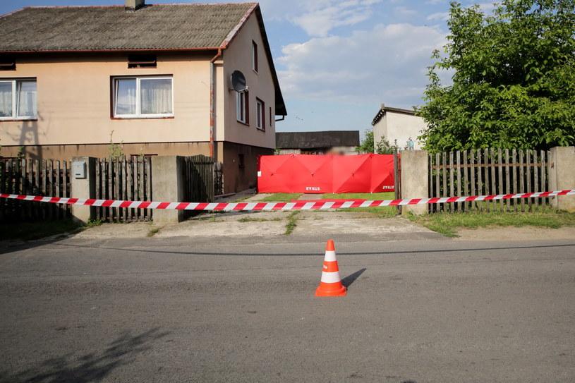Dzierzgów: Miejsce zabójstwa /Roman Zawistowski /PAP