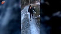 Dziewczyna kontra lód. To była ciężka walka