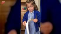 Dziewczynka płacze na wieść o tym, że będzie miała braciszka