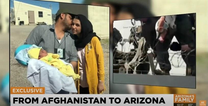 Dziewczynka uratowana przez wojskowych w Kabulu mieszka z rodzicami w Arizonie /Azfamily powered by 3TV & CBS5AZ /YouTube