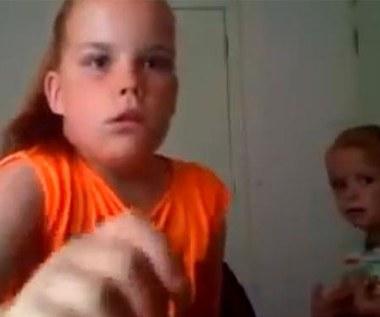 Dziewczynka zbesztana przez mamę hitem internetu (wideo)