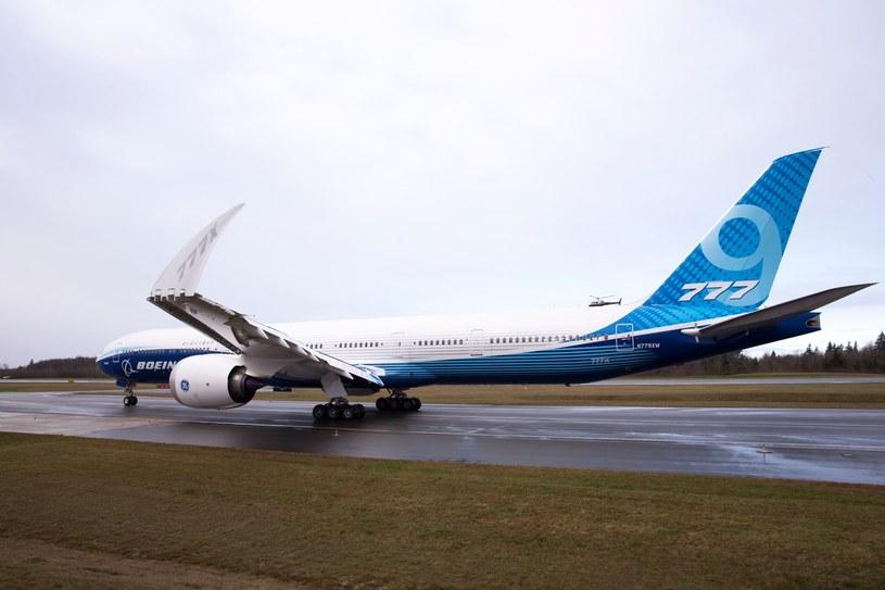 Dziewiczy lot Boeinga 777X. Lotnisko Paine Field, Everett, stan Waszyngton w USA /AFP