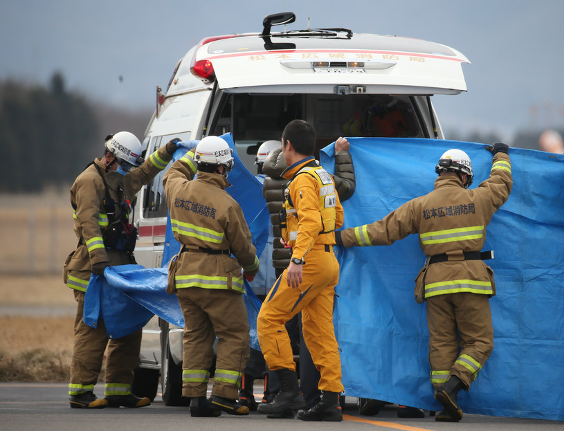 Dziewięć osób zginęło w katastrofie śmigłowca /STR / JIJI PRESS /AFP