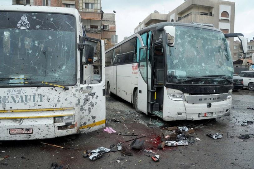 Dżihadyści z Tahrir al-Szam przyznali się do zamachów w Damaszku /PAP/EPA