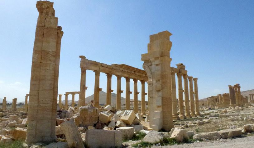 Dżihadyści zniszczyli m.in. bezcenne zabytki w Palmirze (na zdj.) /Maher AL MOUNES / AFP /AFP