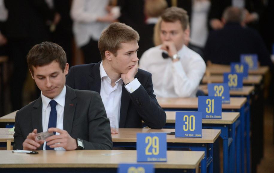 Dziś maturzyści mierzyli się z matematyka /Bartłomiej Zborowski /PAP