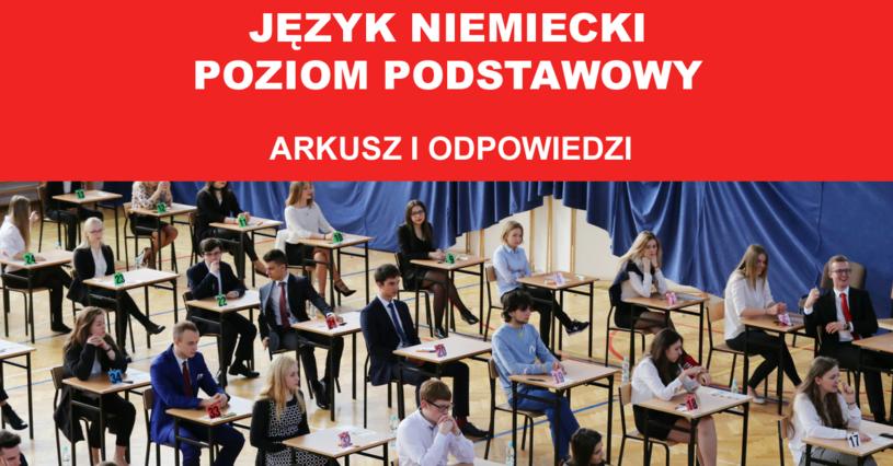 Dziś maturzyści zmierzyli się z językiem niemieckim /Fot. Lukasz Zarzycki/ Oprac. graf. INTERIA.PL /Agencja FORUM
