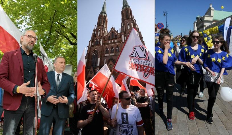 Dziś w stolicy trzy marsze /Krzysztof Miller/PAP/Bartłomiej Zborowski/AP/Tomasz Gzell  /