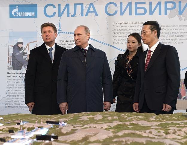 Dzisiaj zaczęła się budowa gazociągu Siła Syberii. Władimir Putin uświetnił uroczystość (2L) /AFP