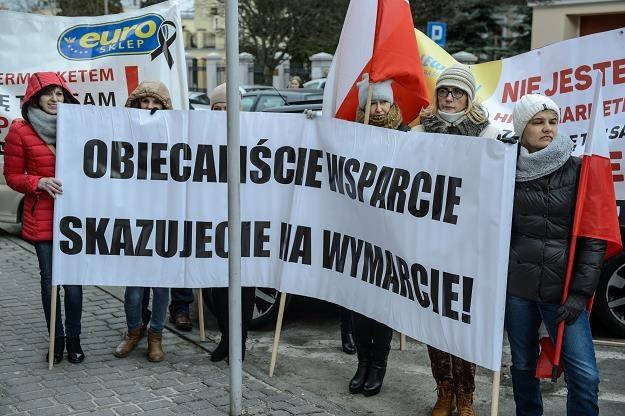 Dzisiejszy protest na ulicach Lublina /PAP