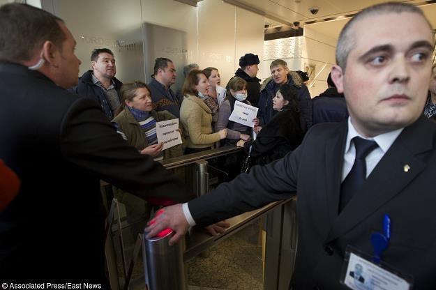 Dzisiejszy protest w Moskwie. Fot. Associated Press/FOTOLINK /Agencja SE/East News