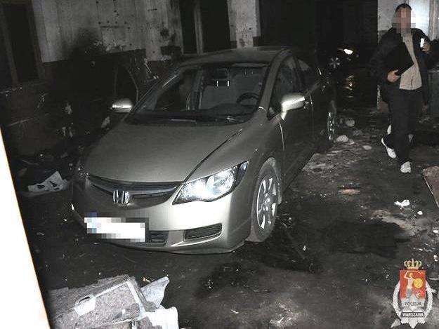 Dziupla w Markach /Policja