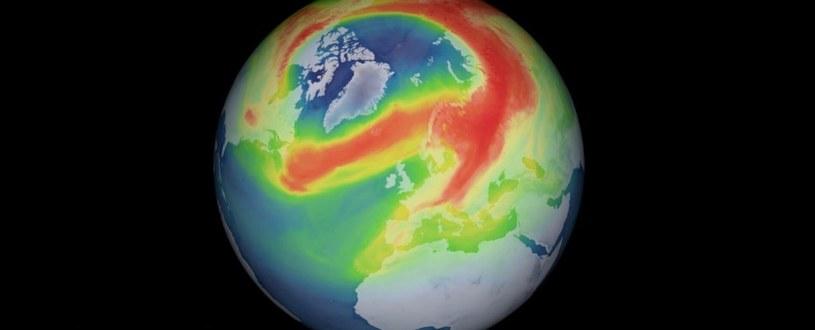 Dziura ozonowa nad Arktyką /materiały prasowe
