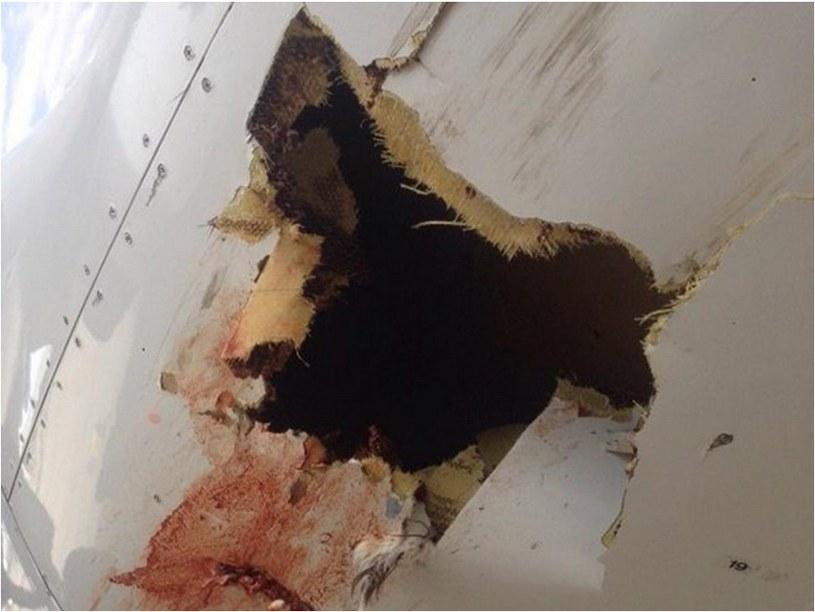 Dziura w kadłubie samolotu /@pastor_ellen /Twitter
