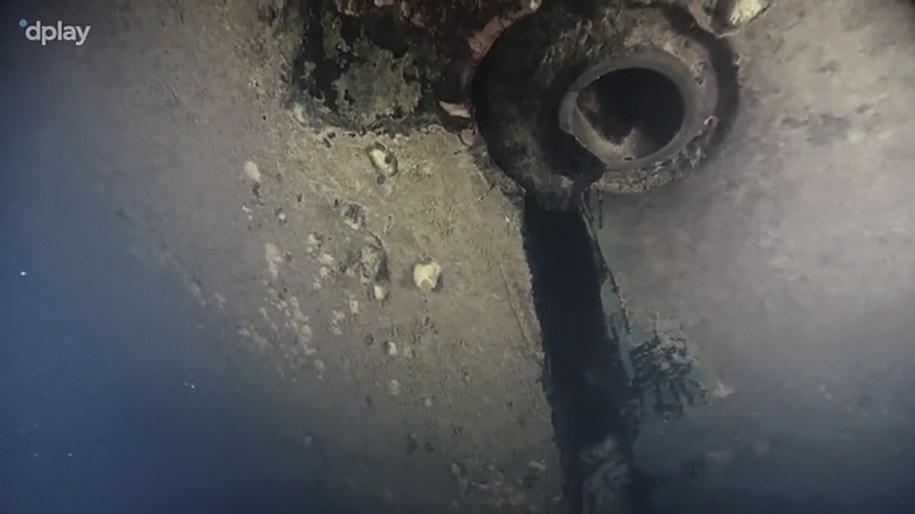 Dziura w poszyciu promu Estonia/Kadr z filmu dokumentalnego /DPLAY/TT  /PAP/EPA