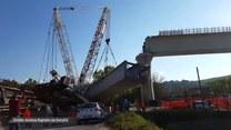 Dźwig runął na budowie wiaduktu we Włoszech