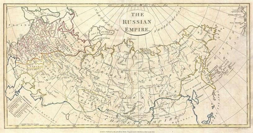 Dzwon został wygnany na drugi koniec Rosji. Mapa Rosji z 1799 roku /domena publiczna