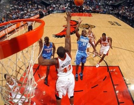 Earl Boykins poprowadził Nuggets do zwycięstwa w Atlancie Fot. Scott Cunningham/NBAE/Getty Images /