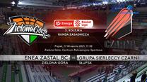 EBL. Enea Zastal BC Zielona Góra - Grupa Sierleccy Czarni Słupsk 83:91. Skrót meczu (POLSAT SPORT). Wideo