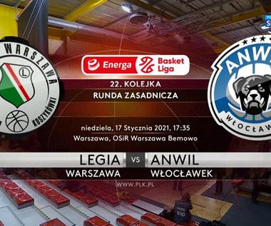 EBL. Legia Warszawa - Anwil Włocławek 85:76. Skrót meczu (POLSAT SPORT). Wideo